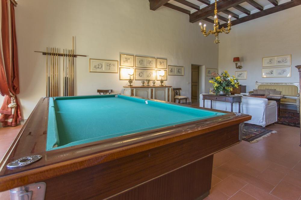 Billardtisch in Villa, 30 km von Pisa